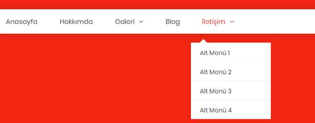 HTML CSS ile Responsive Açılır Menü Yapımı
